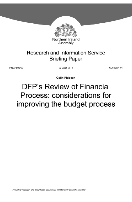 DFP's Review of Financial Process