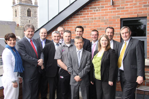 Members of the Northern Ireland Assembly Committee for Employment and Learning on a visit to South Eastern Regional College
