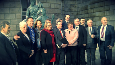 Committee members with members of the Joint Committee for Health & Children, Dublin.