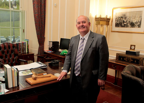 William Hay MLA, re-elected Speaker of the Assembly