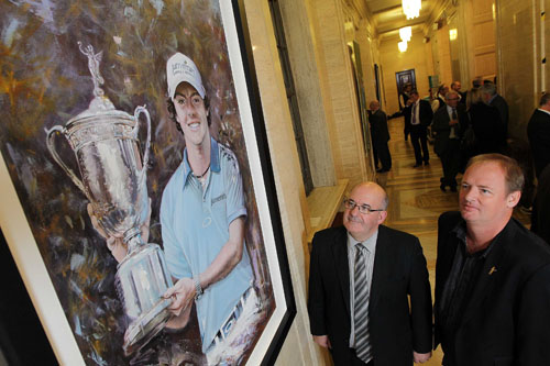 Golfing Legends Unveiled at Parliament Buildings