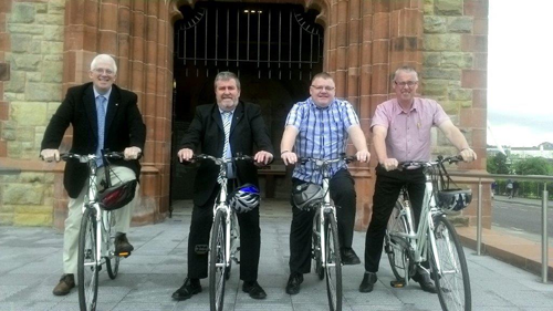 Members of the Committee for Regional Development during the International Active Travel Conference