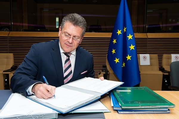 European Commission Vice-President Maroš Šefčovič following the Joint Committee meeting in December 2020 | Source: European Union, 2020