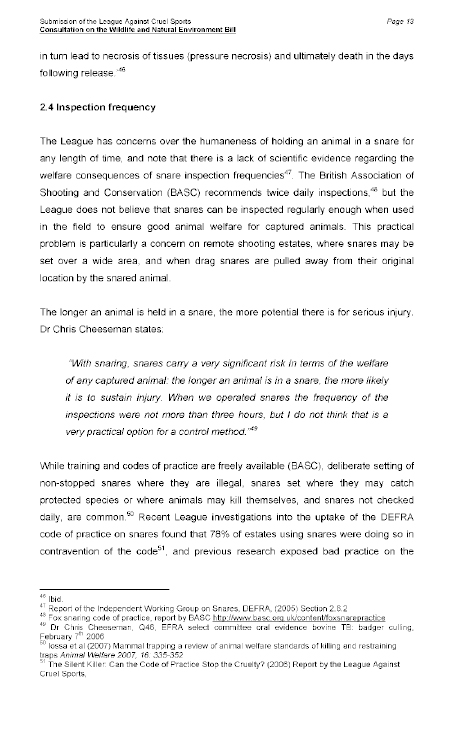 Report on the Wildlife and Natural Environment Bill (NIA 5/09)