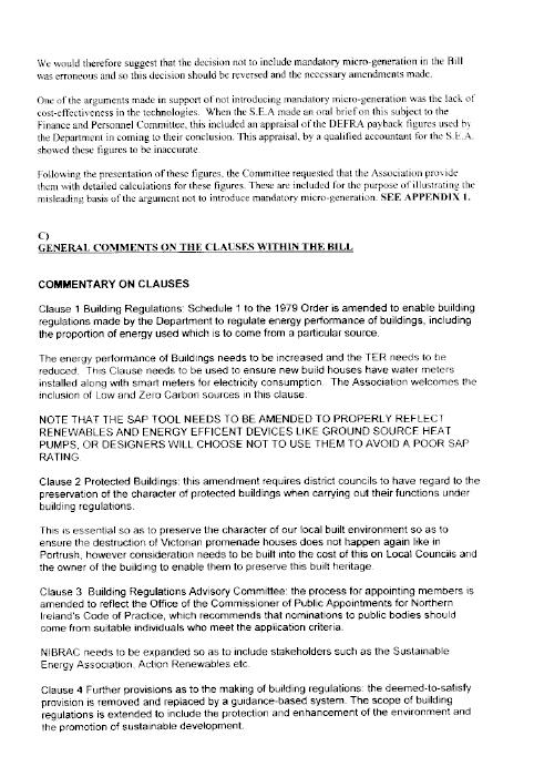 Report on the Building Regulations (Amendment) Bill (NIA 11/07)