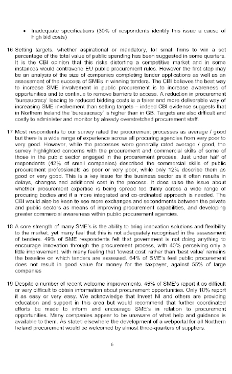 report on the inquiry into public procurement in northern ireland