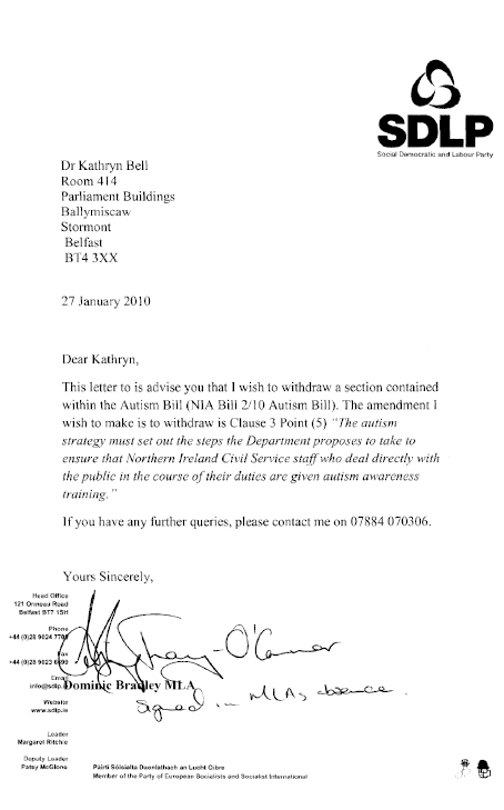 report on the autism bill