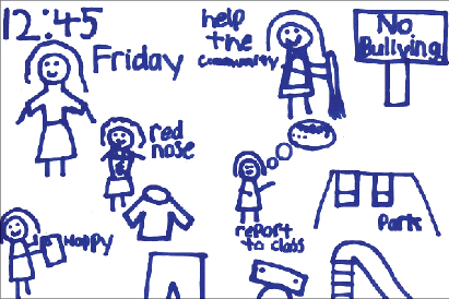 All pictures contained in this report were drawn by pupils as part of the Focus Groups