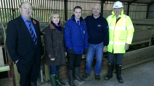Committee for Agriculture and Rural Development on their visit to Cleland Farm