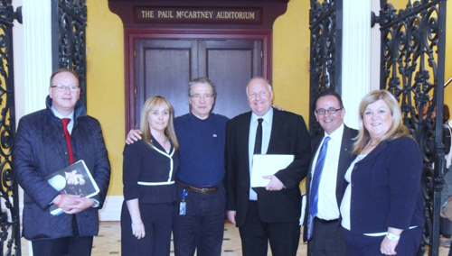 Members of the CAL Committee, with Mr Mark Featherstone-Witty, Chief Executive of Liverpool Institute of Performing Arts