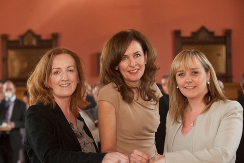 Michelle McIlveen with Shona McCarthy and Deirdre Heenan at the co-ordinated committee event in Londonderry