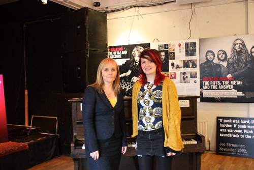 Chairperson Michelle McIlveen with Shauna Tohill at Oh Yeah Music Centre