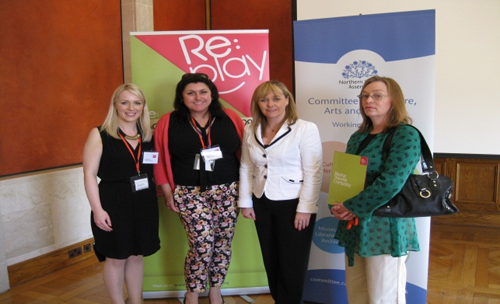 Michelle McIlveen with representatives from Replay Theatre Group: BLISS project