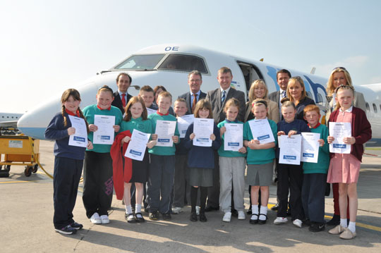 Education Committee visit Bombardier to view the STEM project it delivers to schools across Northern Ireland