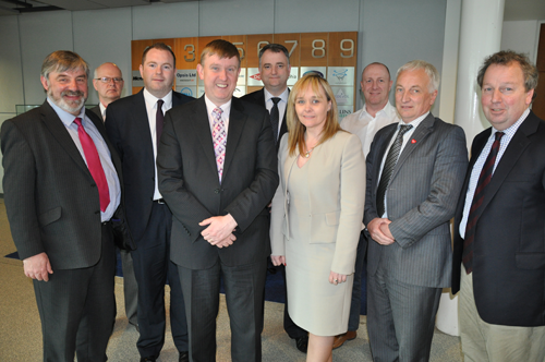 Education Committee Members with representatives from the Northern Ireland Science Park following a Committee meeting on 8 May 2013