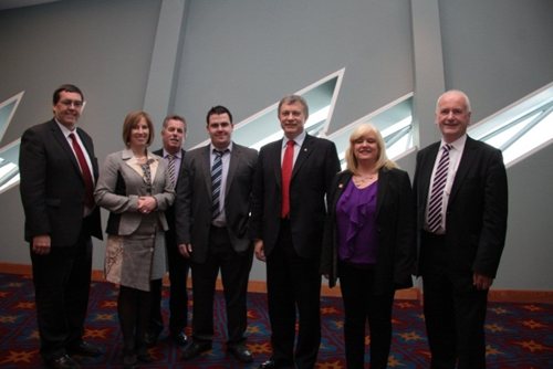 Members of the ETI Committee during their visit to Titanic Belfast
