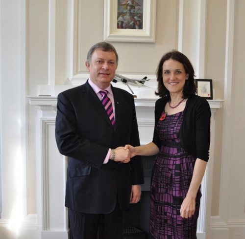 Patsy McGlone (Chair) meets with Secretary of State for Northern Ireland, Theresa Villiers