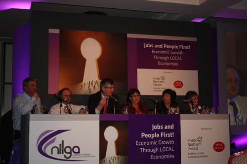 Members taking part in the panel question and answer session at the NILGA annual conference