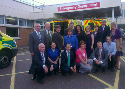 Committee members visiting Craigavon Area Hospital