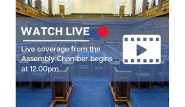 Live coverage of today's Plenary Session begins at 12.00pm on niassembly.tv