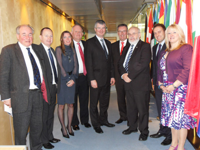 Committee Members with Members of the Scottish European and External Affairs Committee in Edinburgh in October 2011