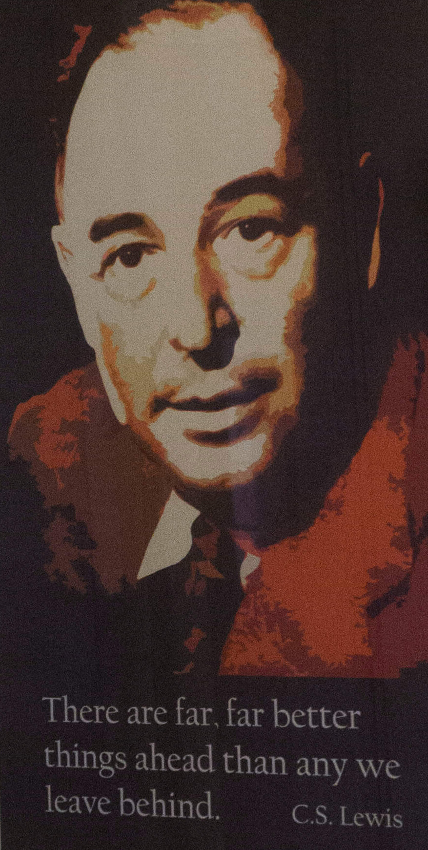 Portraits of Seamus Heaney and C S Lewis