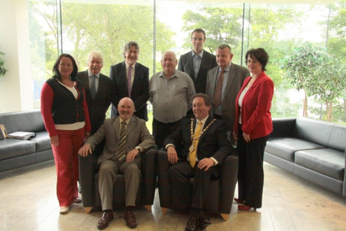 Members of Social Development Committee with Coleraine Mayor D Harding