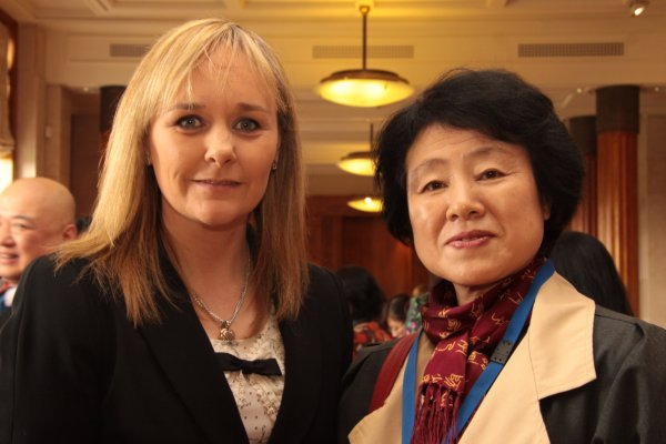 From L-R: Chairperson of the Committee for Culture, Arts and Leisure, Ms Michelle McIlveen MLA and Acting Consul General for People's Republic of China, Madam Ma Dayun.