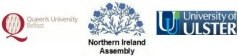 Logos of QUB, NIAssembly and UU