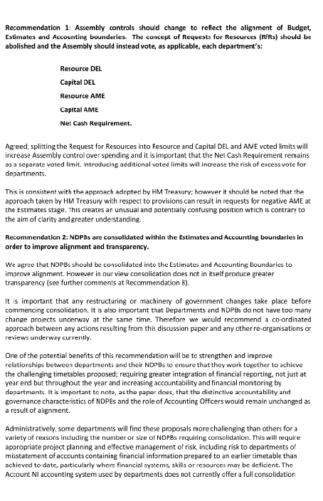 NIAO response -Financial process review